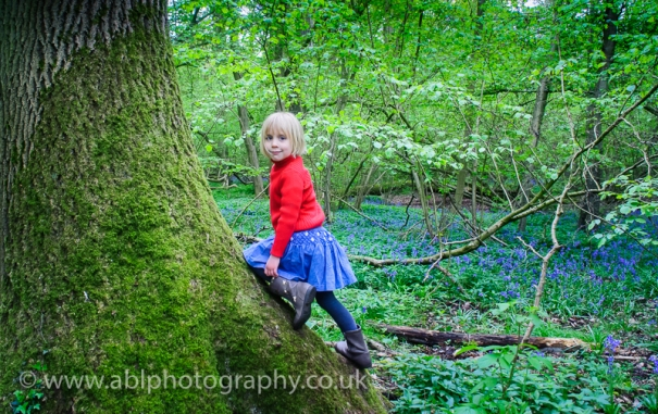 Bluebell photo-shoot by ABL Photography- girl in red-8473