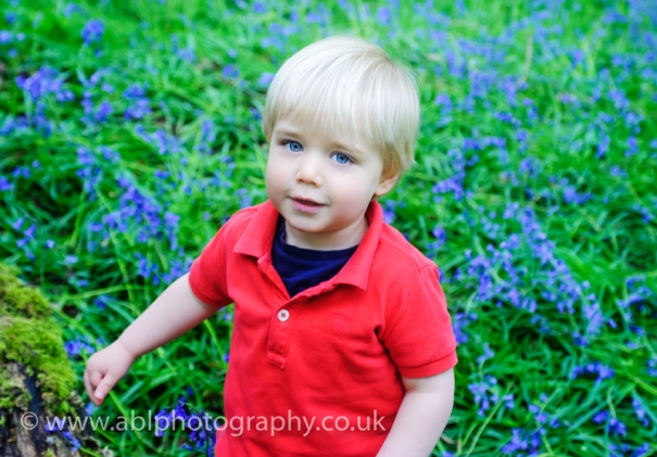 bluebells by ABL Photography-boy in red